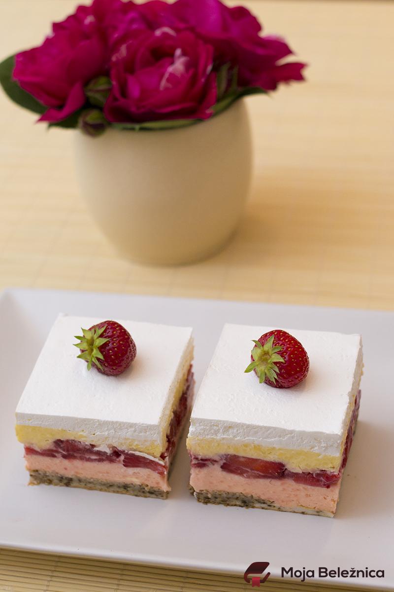 Voćna tortica sa jagodama